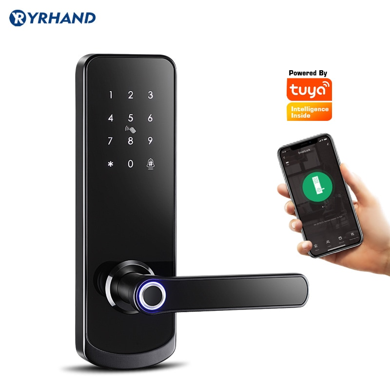 Review Fingerprit Electronic Door Lock with APP WIFI Smart Touch Screen Lock Digital Safe Code Keypad Deadbolt For Home Hotel Apartment