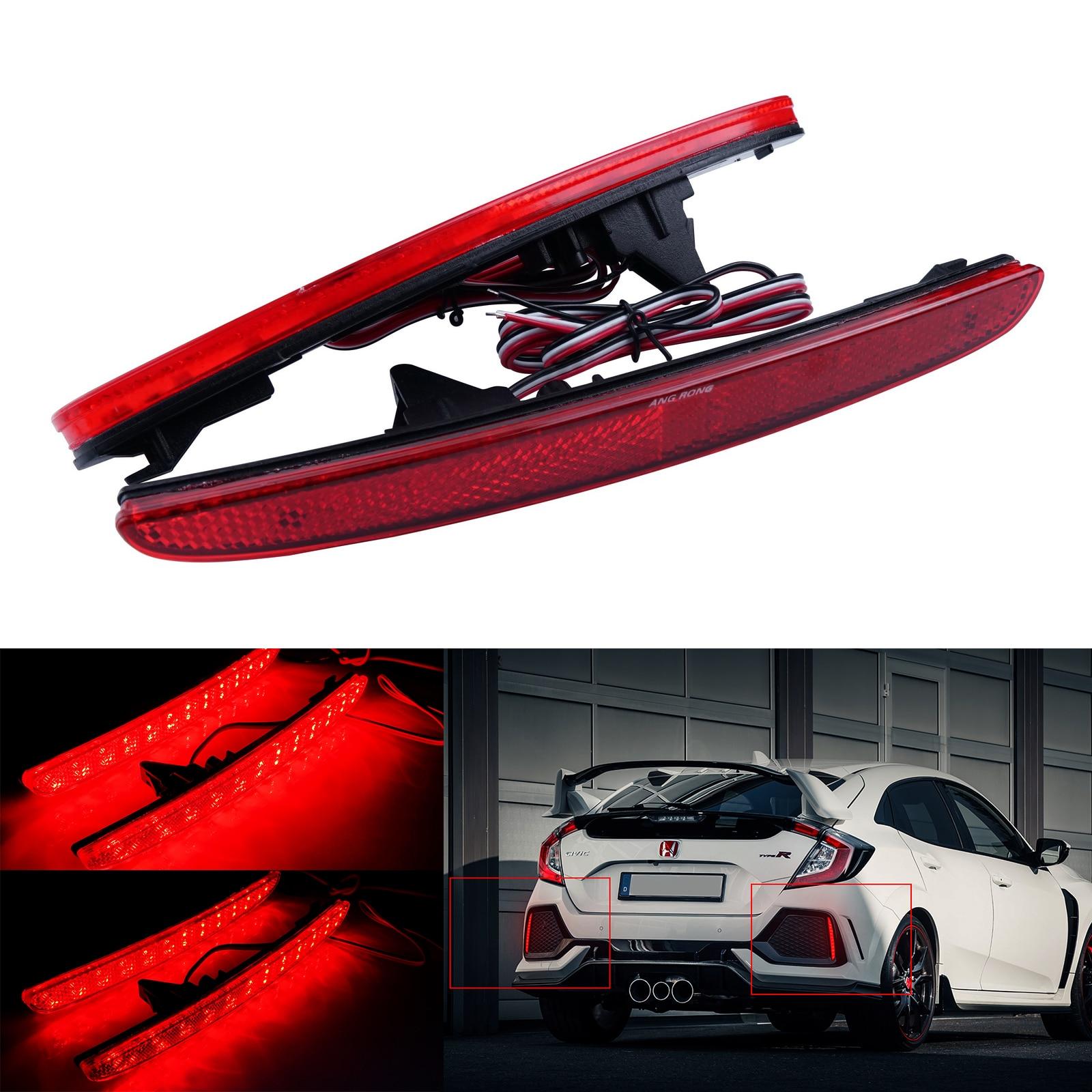 Красный задний бампер отражатель светодиодный задний фонарь стоп светильник для Honda Civic X MK X FK 2016 +
