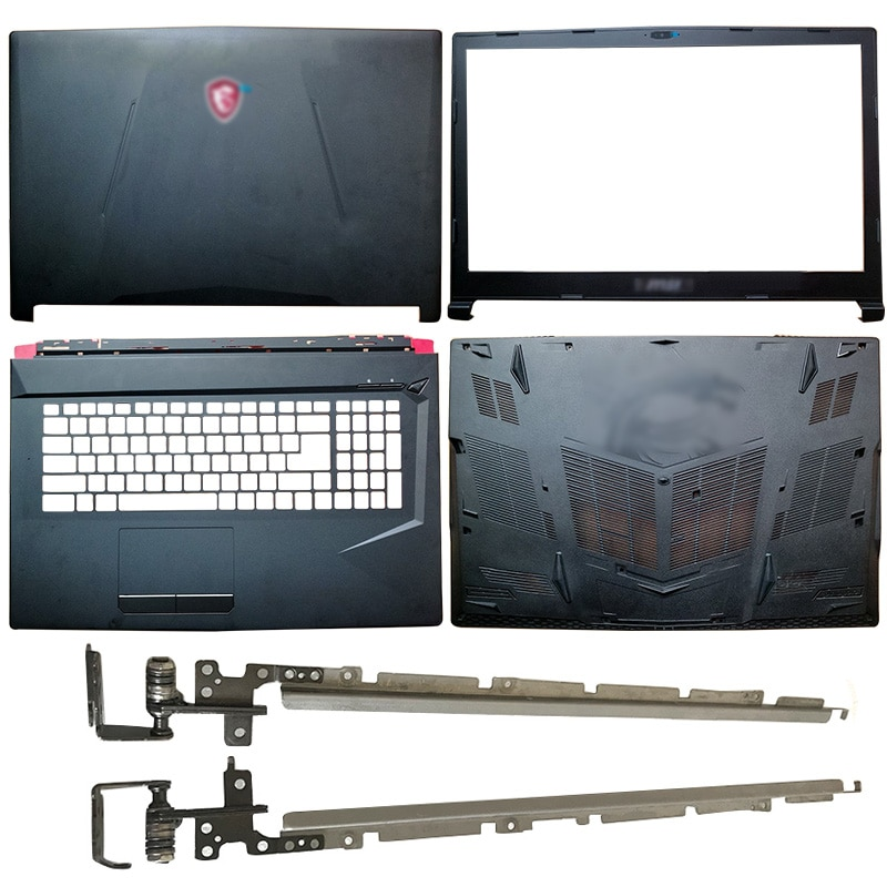 Laptop LCD Back Cover/Front Bezel/Hinges/Palmrest/Bottom Case For MSI GL73 8RC GL738RD MS-17C6 GL73 8RE MS-17C5 GL73 7RD MS-17C4 new original bottom base cover for msi gv62 7rc 7rd 8rd bottom case 3076j4d23 black