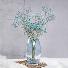 American European Ice Cracked Glass Vase Simple Modern Living Room Porch Flower Arrangement Vase Home Decoration High Style