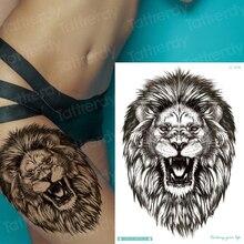 tattoo lion head tiger animals mens chest tattoos girls thigh back arm tattoo sleeves big tatoo fake waterproof sexy body art