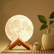 3D Moon Lamp LED Night Light Creative Touch Switch Moon Light For Bedroom Decoration Birthday Gift 3