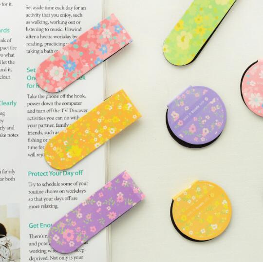 2pcs/pack per lot fresh flower Magnetic Bookmarks Office&School Fashion Christmas Gift Zakka styles