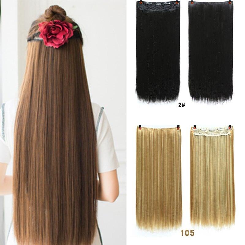 MANWEI 60cm de largo pelo sintético con pinza en la extensión del cabello postizo resistente al calor cabello Natural ondulado pieza