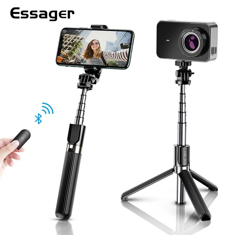 Essager 3 en 1 inalámbrico Bluetooth Flexible Selfie Stick trípode para iPhone teléfono Xiaomi Selfiestick trípode Monopod portátil