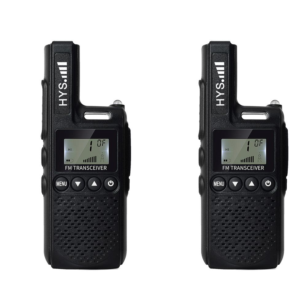 HYS 2 قطعة البسيطة يتحملها UHF 400-480 MHz مع 99 قنوات 2W اتجاهين راديو FM جهاز الإرسال والاستقبال