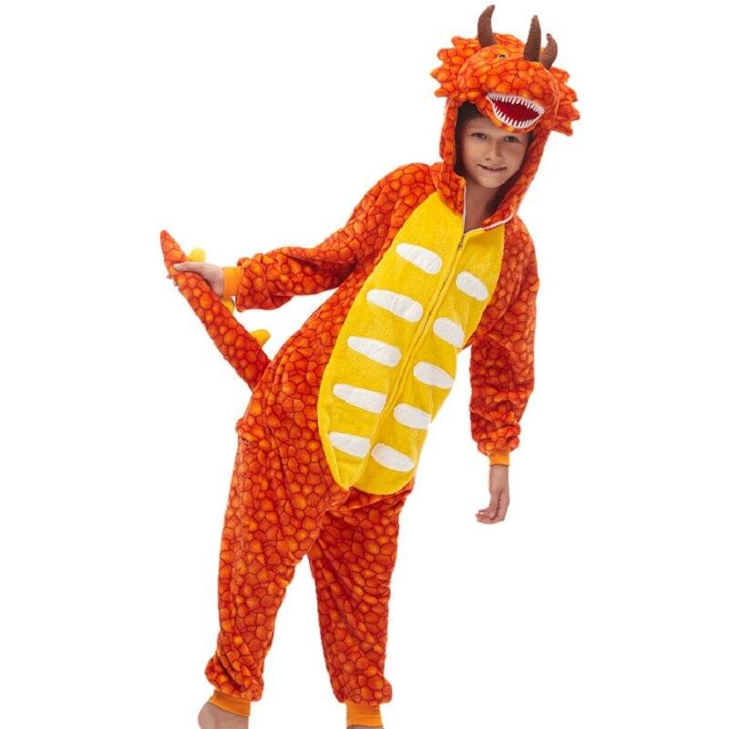Onesies ropa de dormir Kigurumis pijamas para niños pijamas de franela de dibujos animados unicornio niños animales con capucha para niña Pijama de invierno de una pieza