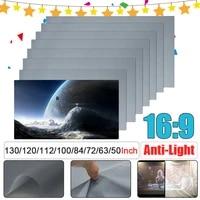 Ecran de Projection Anti-lumiere Portable pliable 16 9  pour Home cinema 3D  HD 1080P  50 60 63 72 84 100 112 120 130 pouces