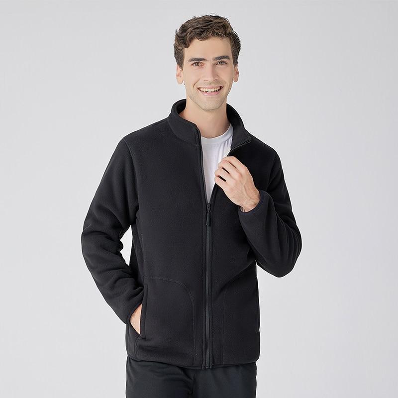 Зимние мужские куртки, повседневная мужская верхняя одежда, плотные флисовые куртки, мужские приталенные теплые куртки с воротником-стойко...
