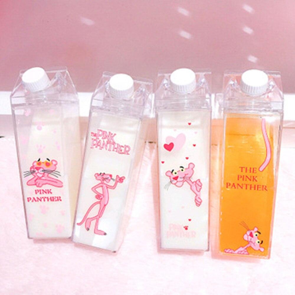 500ml niños lindo Pink Panther botella De Agua deporte Garrafa De Agua agitador De plástico portátil mi botella De Agua para botella De Agua, Q