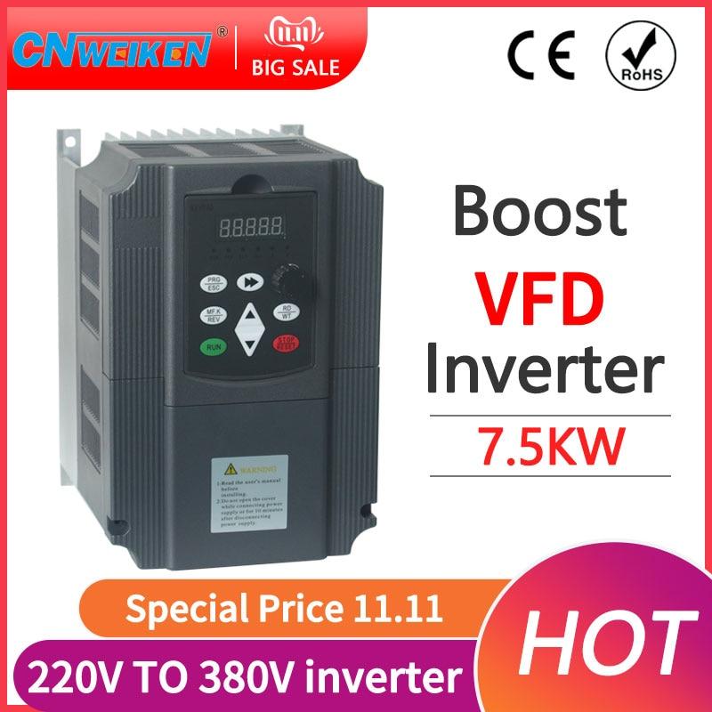 1 5KW/7.5KW VSD 220v 380v inversores de husillo VFD AC drive convertidor...