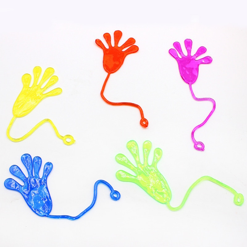AliExpress - 10Pcs Elastically stretchable sticky palm Climbing Tricky hands toys