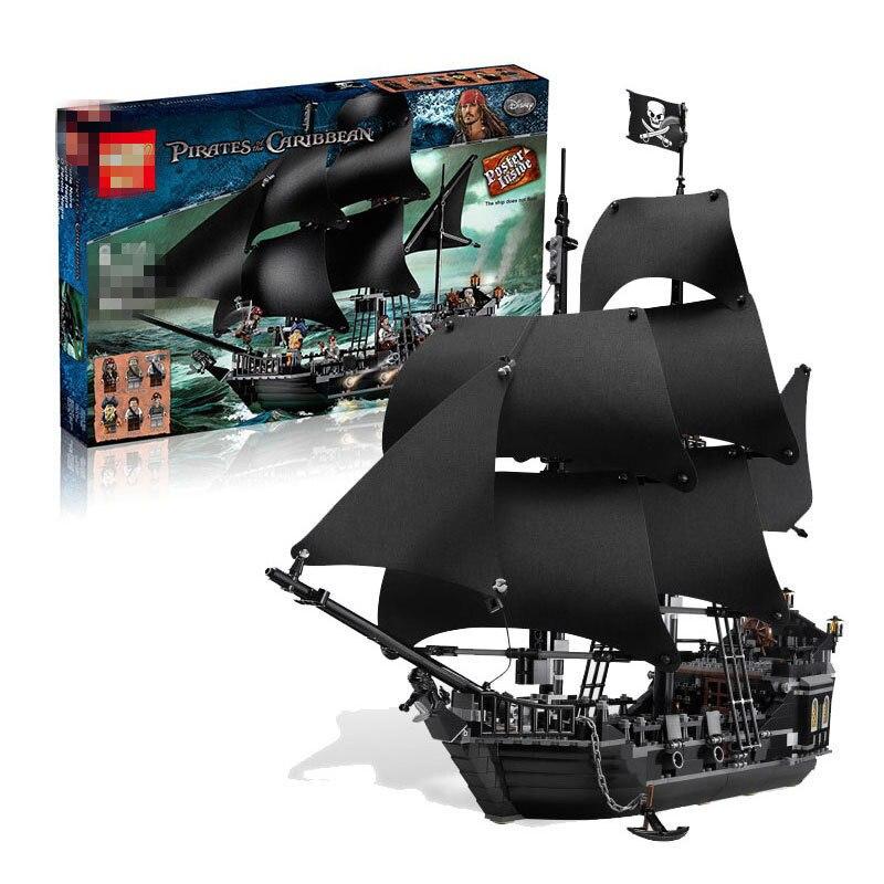 Самый дешевый 16006 Пираты Карибского моря черный жемчуг корабль блоки кирпичи lepined 4184 блоки игрушки дети подарок на день рождения