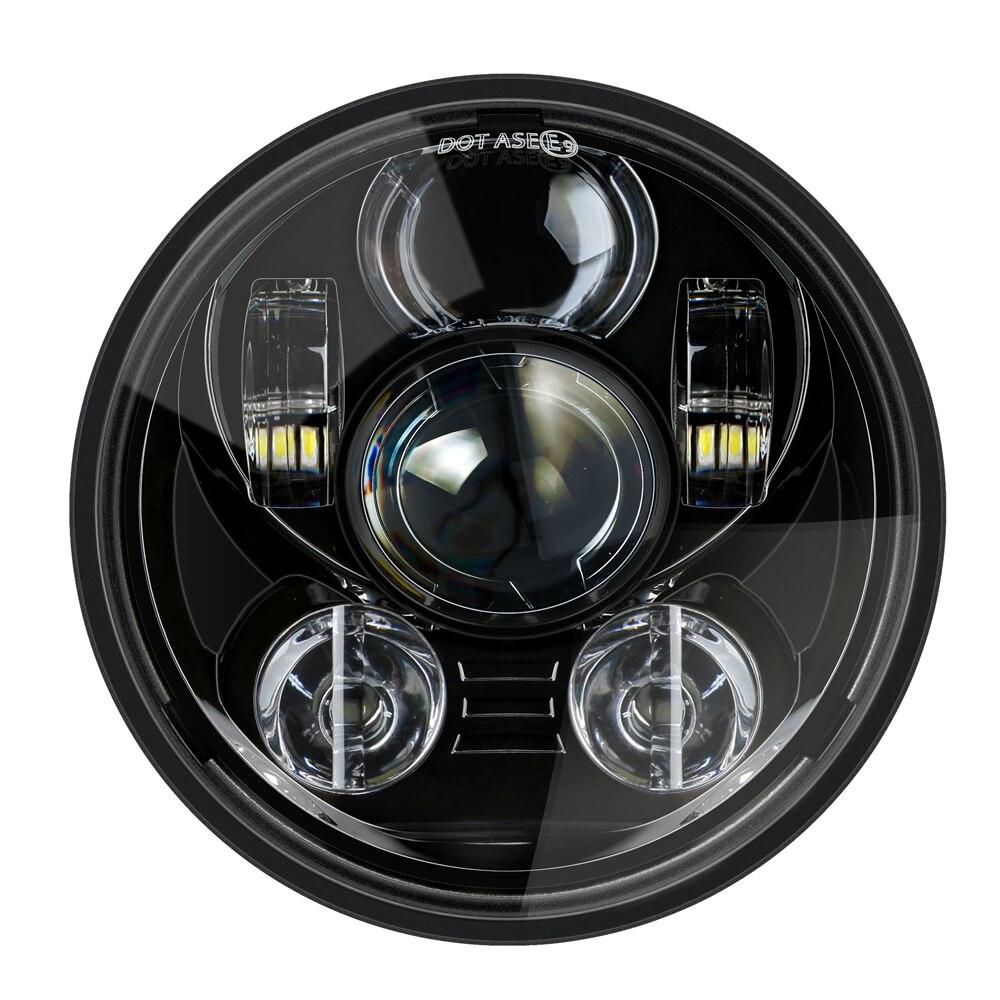 "5.75"" 5 3/4 LED Motorcycle Headlight Black For  Sportster 1200 XL1200L Custom XL1200C 883 XL883 883L XL883R 48"