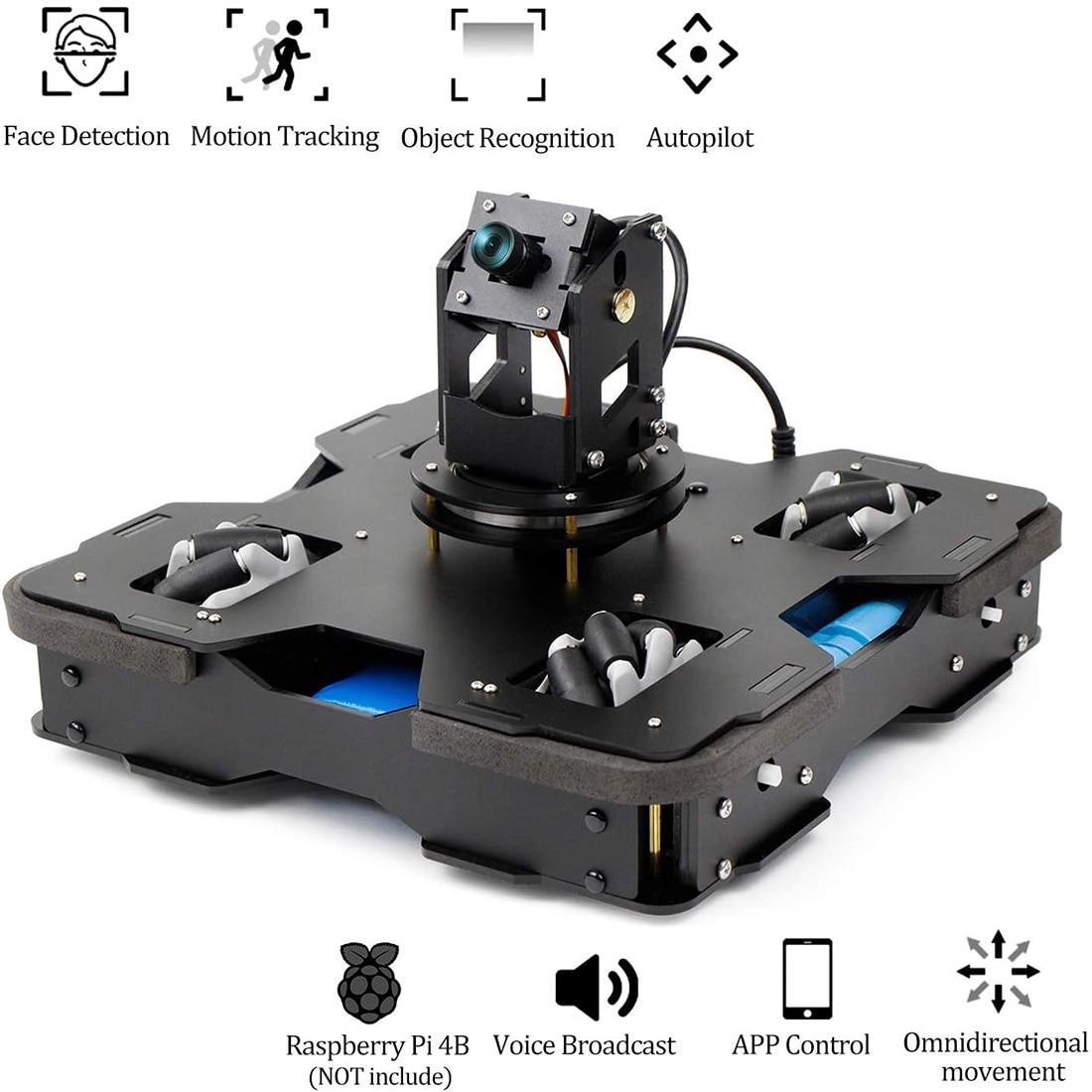 Tipo 3 AI Robot inteligente Kit de coche Wifi Video para Raspberry Pi 4B/4G