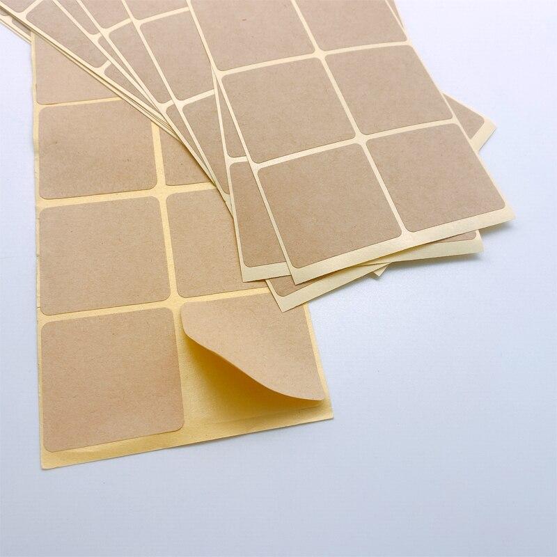 100 unids/lote, nuevo diseño cuadrado Vintage, manualidades, adhesivo de sellado en blanco, etiqueta de nota DIY/pegatina para teléfono