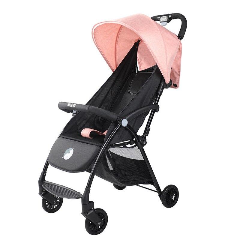 عربة أطفال خفيفة الوزن قابلة للطي مع مظلة مناظر طبيعية عالية ، عربة أطفال صغيرة ، 3C ، A7 ، 4.6 كجم