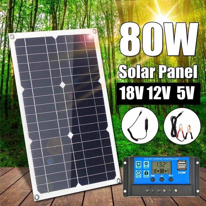 20 واط 30 100 واط 18 فولت شبه مرنة لوحة طاقة شمسية هاتف محمول بطارية السيارة أحادية السيليكون شاحن بالطاقة الشمسية