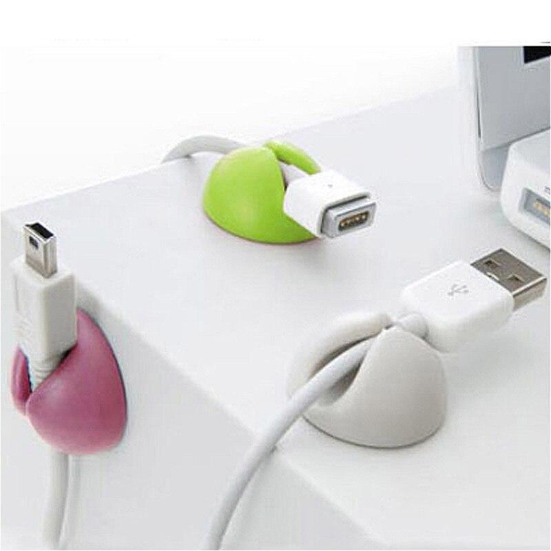 Juego de 5 uds de cables pequeños para escritorio organizador de bobinas enrollador organizador de cables para ratón USB teclado líneas accesorios de oficina