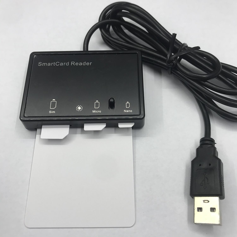 OYEITIMES SIM Card Reader Writer+5PCS 2FF/3FF/4FF Programmable SIM Card Blank LTE WCDMA GSM USIM 4G Card +SIM Personalize Tools enlarge