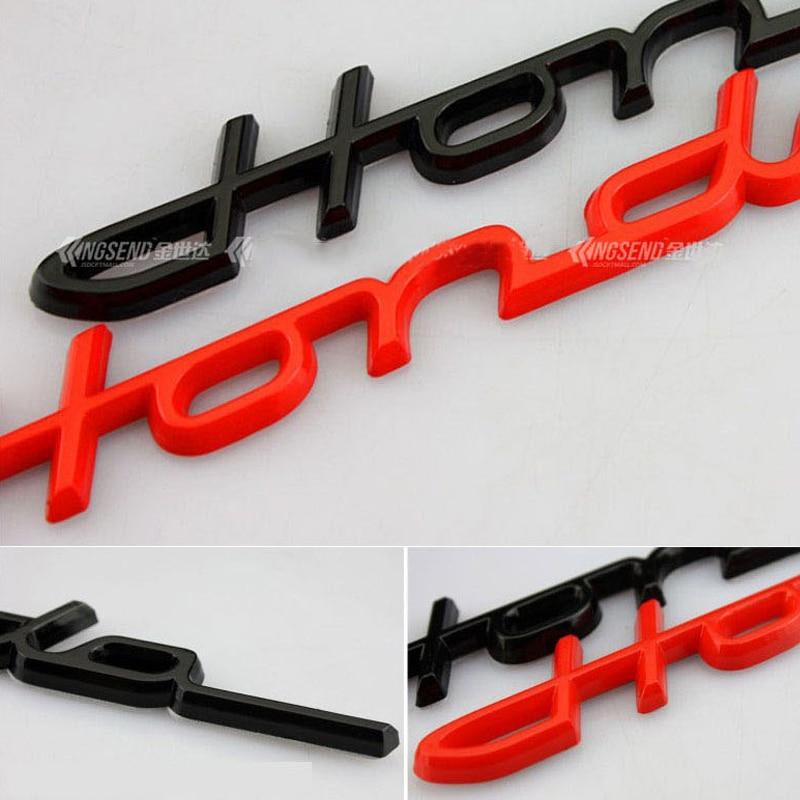 Letra a mano estilo de firma letras emblema para Honda ajuste Civic Accord coche estilismo maletero Logo insignia pegatina Cromo Negro rojo