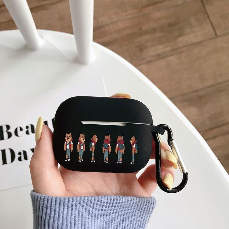 Милый силиконовый чехол с рисунком аниме Doges для Airpods Pro, чехол с беспроводным Bluetooth для Apple Airpods Pro, чехол, чехол для наушников, чехол чехол