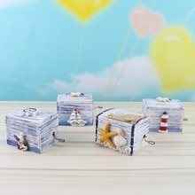 Cute Mediterranean Style Ocean Wooden Hand Music Box Music Theme Castle In The Sky for Kids Girl New