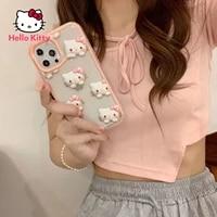 hello kitty for iphone 78pxxrxsxsmax1112pro12mini niche cute stereo transparent phone case