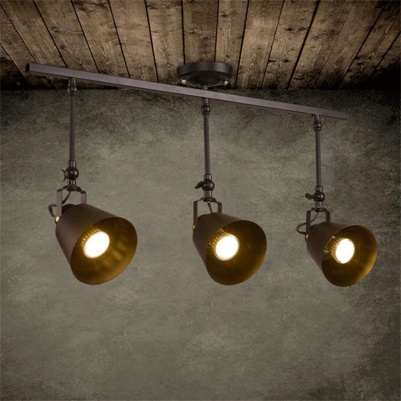 Luz LED de Techo Retro Para Loft, lámpara de Techo para sala...