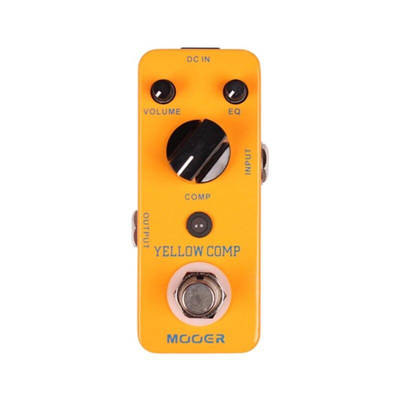 Mooer jaune Comp processeur de guitare Micro Mini compresseur optique effet pédale pour guitare électrique accessoires pièces véritable dérivation