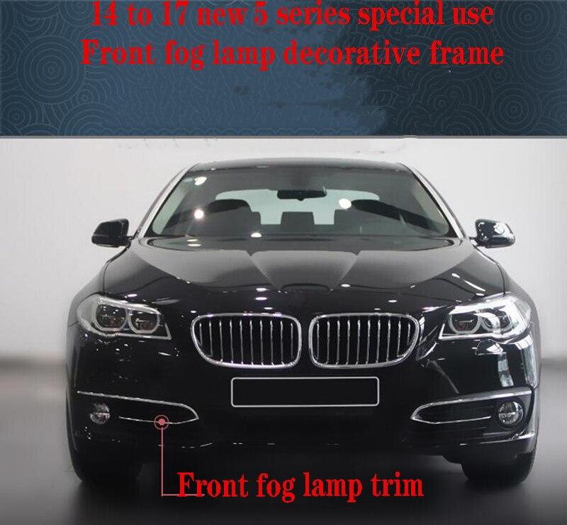 Front And Rear Bar Fog Lamp Decorative Frame Modified Fog lamp frame For BMW New 5 series 520Li 525Li 2014-2017
