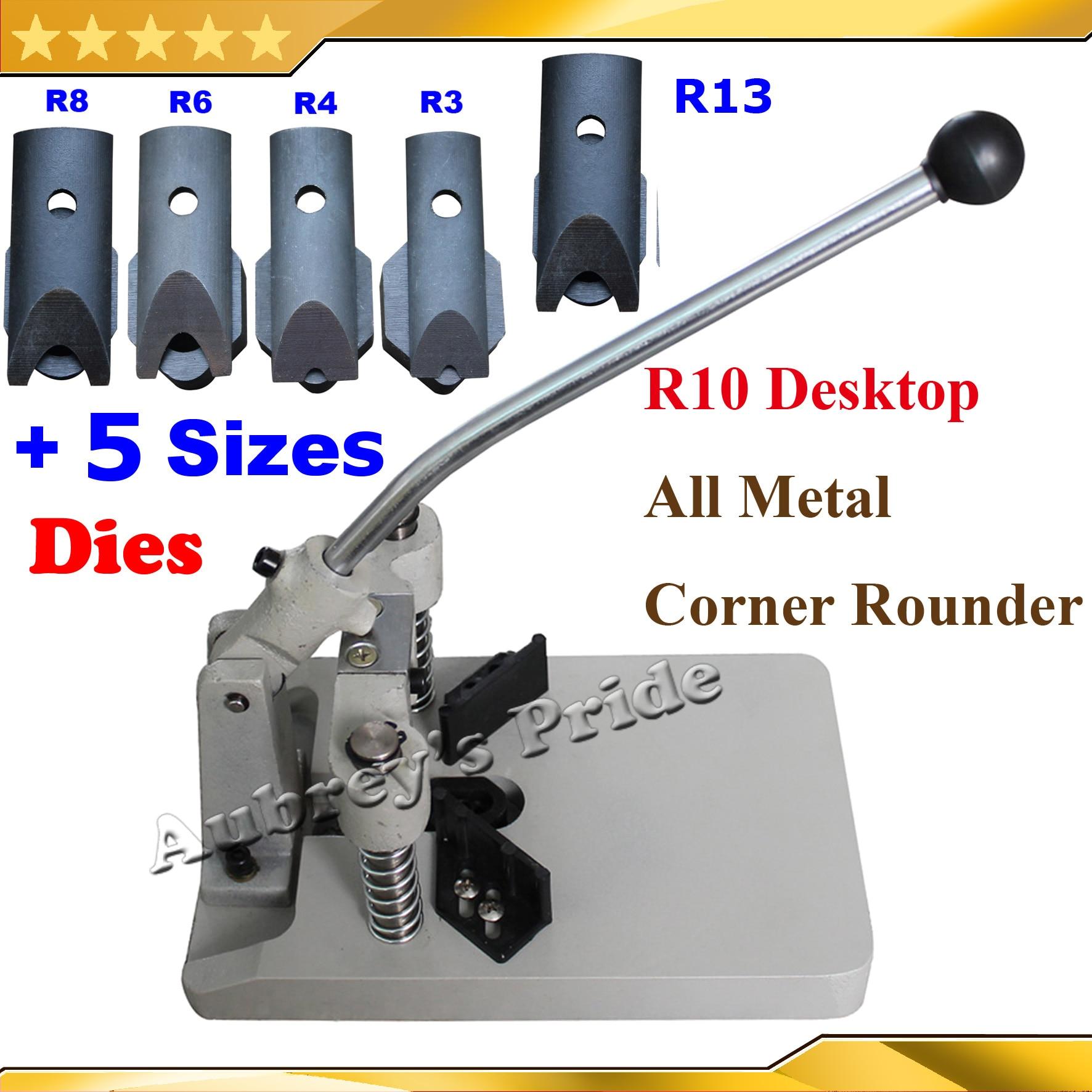 6 شفرات معدنية بالكامل ، قاطع دائري لبطاقة الهوية التجارية ، PVC ، 6 شفرات ، R3 ، R4 ، R6 ، R8 ، R10 ، R13