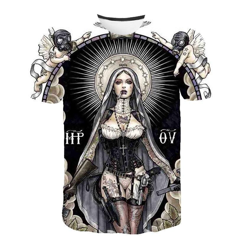 Anioł duże stocznie nowe mody czaszki koszulka markowa mężczyźni/kobiety lato 3d wilk Tshirt nadruk z kotem T shirt topy Tees Asian rozmiar S-5XL