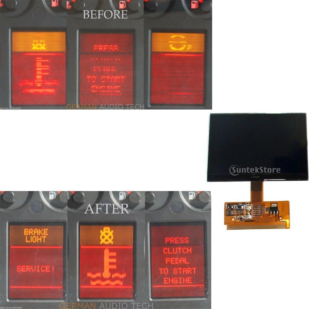 Painel lcd do conjunto do velocímetro do instrumento para audi a4 (b5) 1995-2001, a6 (c5) 1997-2004