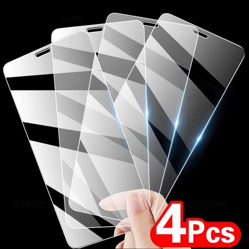 Protector de pantalla de cristal para iPhone película protectora de cristal para iPhone 11 12 Pro Max 6s 6 7 8 Plus X XS X XR XS