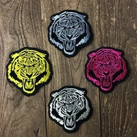 2piece multicolor tiger animal embroidery patches applique clothing pants handbags personalized diy thermal stickers on clothes
