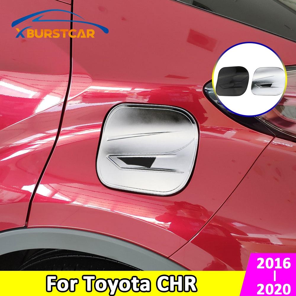 Xburstcar, tanque de combustible de Gas para coche, cubierta protectora, tapa adhesiva para Toyota C-HR CHR C HR 2016 2017 2018 2019 2020 Accesorios