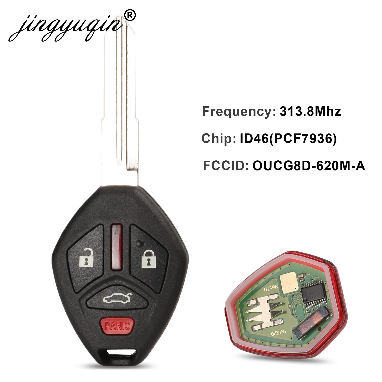 Jingyuqin 5 unids/lote Chip transpondedor ID46 para Mitsubishi OUCG8D-620M-A 313,8 Mhz para Galant Eclipse 2007-2012