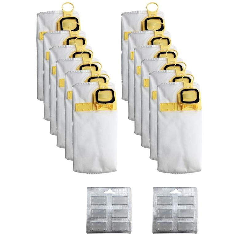 12Pcs Efficiency Dust Bag Replace for Vorwerk VK140 VK150 FP-140 Vacuum Cleaner