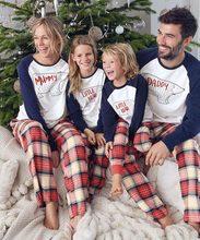 2020 weihnachten Familie Pyjamas Kleidung Set Plaid Familie Passenden Kleidung Weihnachten Erwachsene Kinder Pyjamas set Baby Body Nachtwäsche