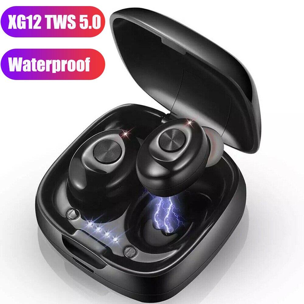 TWS auriculares inalámbricos 5,0 Bluetooth IPX5 impermeable 3D deportes estéreo sonido auriculares con caja de carga