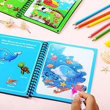 Montessori Cartoons Magic Water Drawing Book Coloring Book Doodle Magic Pen Painting Drawing Board F