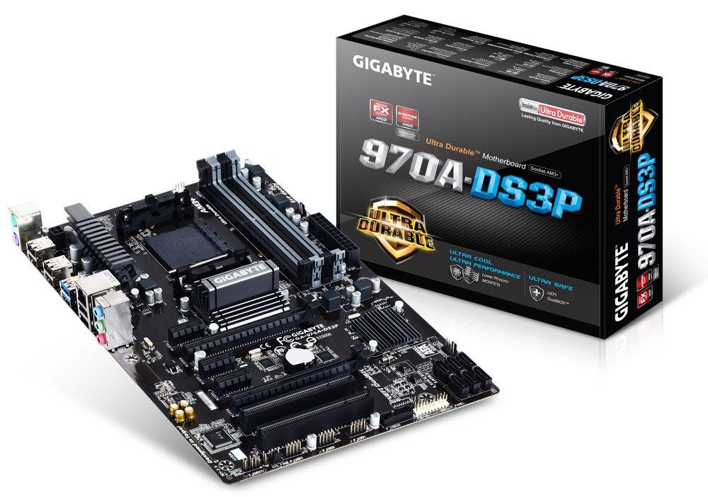 جيجابايت الأصلي لوحات GA-970A-DS3P المقبس AM3/AM3 + DDR3 970A-DS3P لوحات 32 جيجابايت 970 سطح المكتب اللوحة الرئيسية