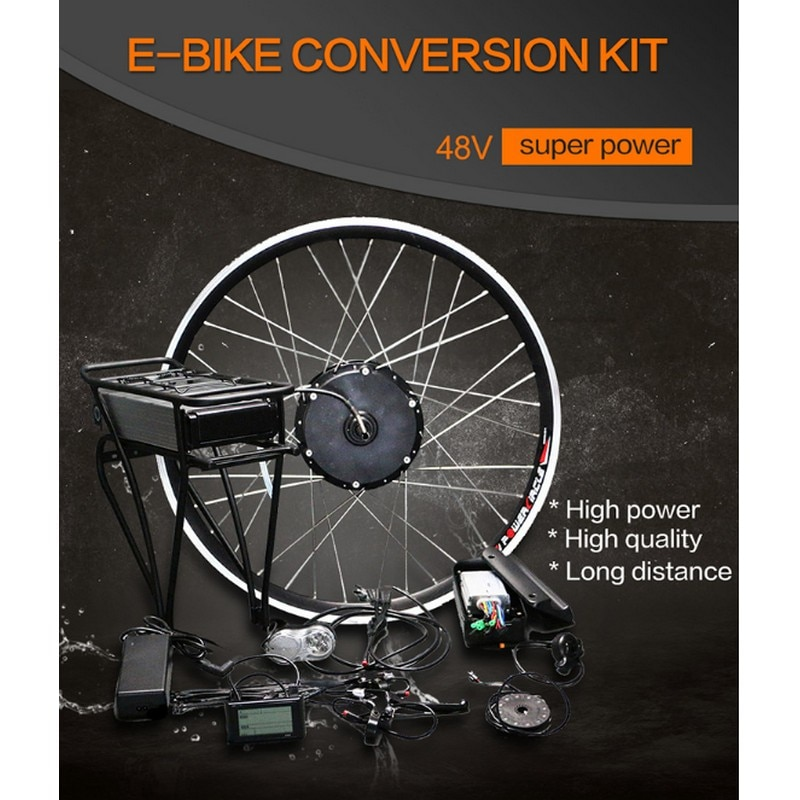 E Kit de conversión de Bicicleta 48V 500W IMortor de rueda eléctrica...