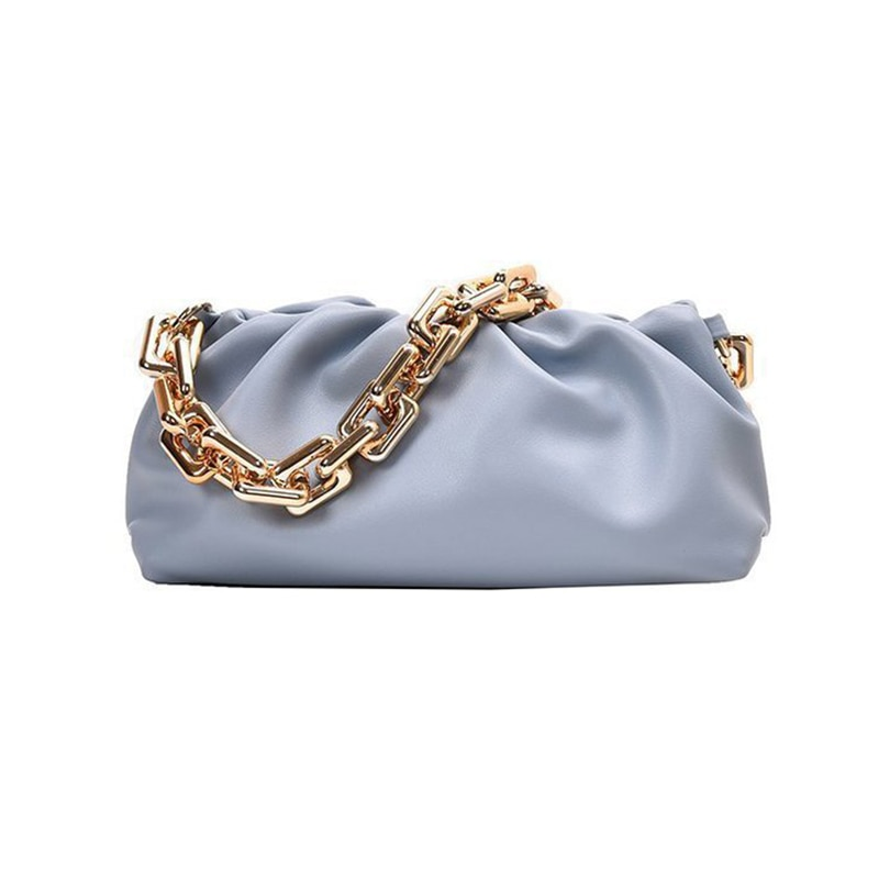 2020 New Women Fashion Crossbody Shoulder Bags Cloud Bag Thick Chain Soft Leather Trendy Women Luxury Handbag Purse Clutch Bag