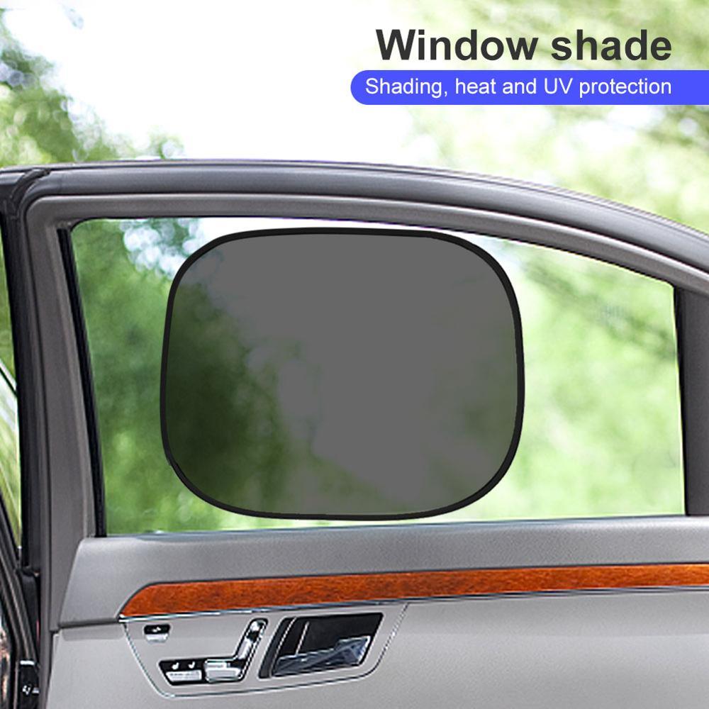 2/4/6/10 Uds., parasol de electricidad estática para coche, bloqueador de sol, pegatina estática, guardabarros Lateral aislado resistente al sol para coche, 44*38cm