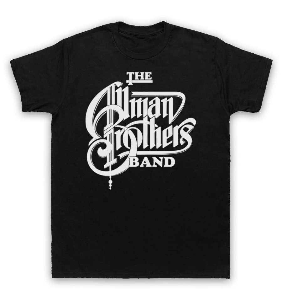 Camiseta de estilo de moda para hombre, camisa de banda de allman...