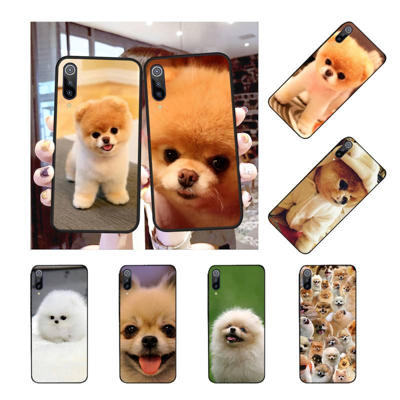 NBDRUICAI Pomeranian dog dogs Cover Black Soft Shell Phone Case for Redmi Note 8 8A 7 6 6A 5 5A 4 4X 4A Go Pro Plus Prime