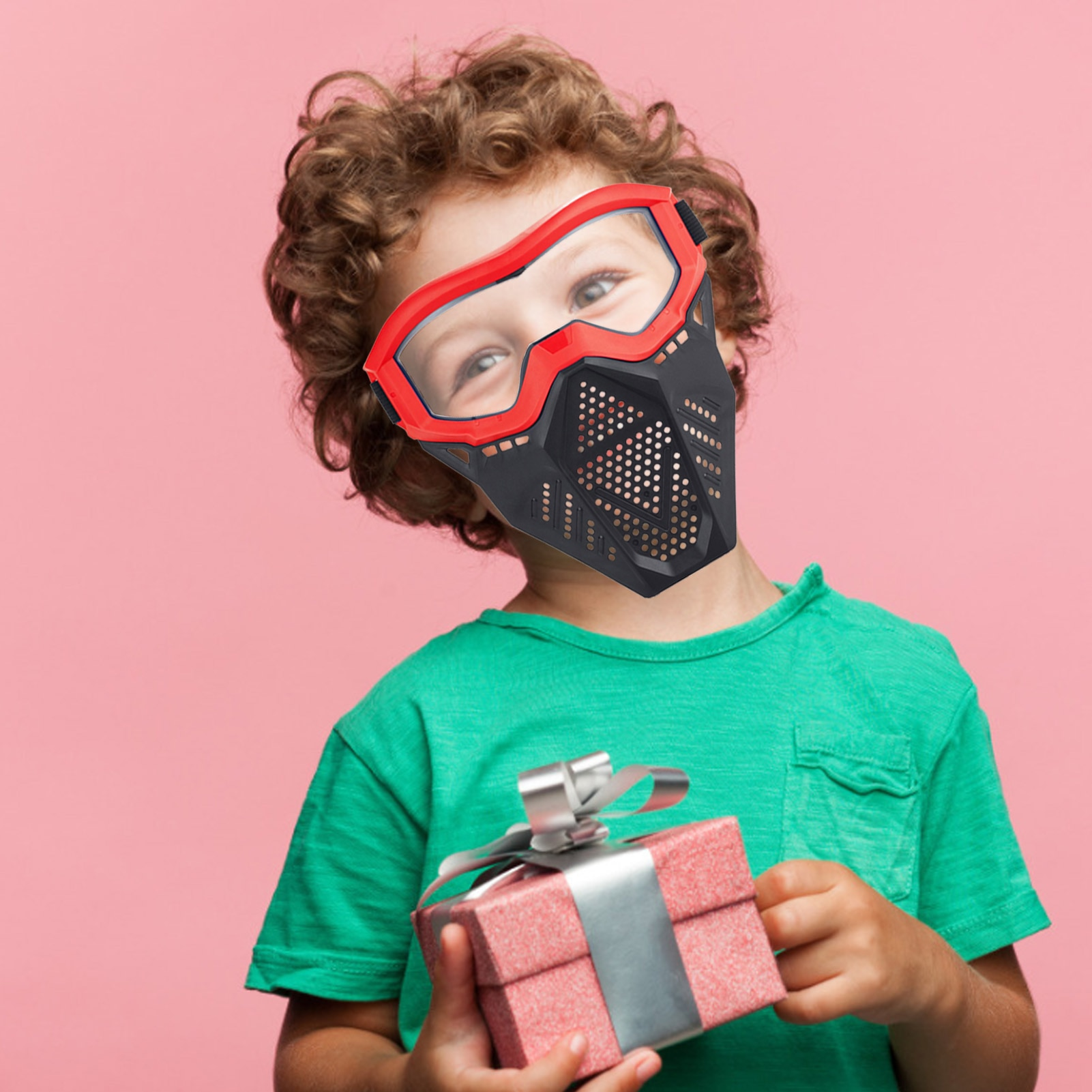 Explosive Soft Bullet Mask Children's Shooting Game Protective Equipment Toy Soft Bullet Gun Battle Mask