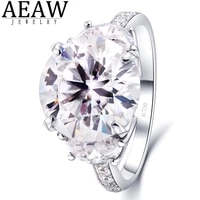 6 4ctw def color round brilliant cut moissanite engagement band full eternity band real solid 14k white gold or silver 925 gift
